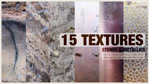 Texture pack 08: Stones and Metallics