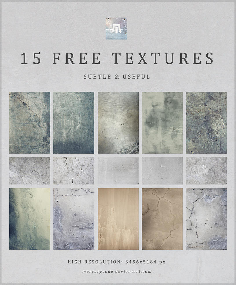 15 Free Textures: Subtle + Useful by mercurycode