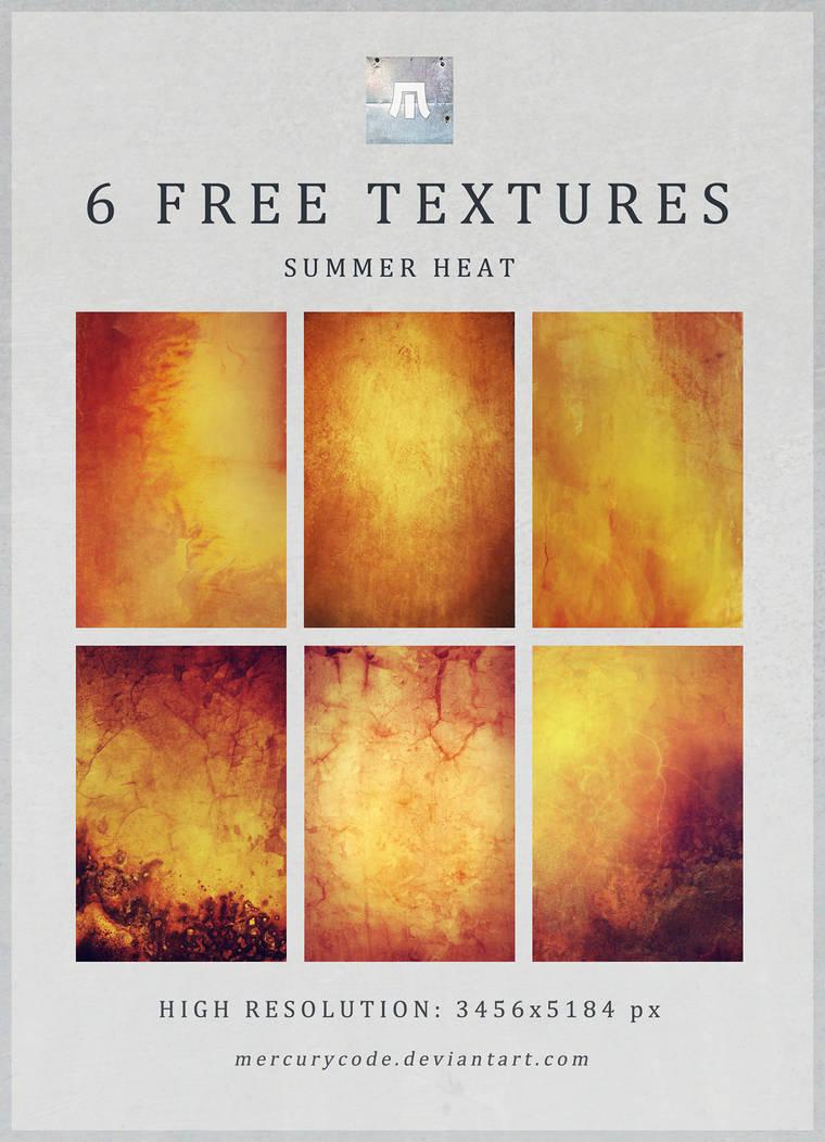 6 Free Textures: Summer Heat by mercurycode