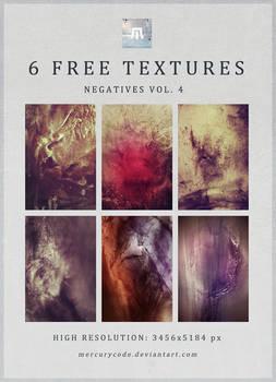 6 Free Textures: Negatives Vol. 4
