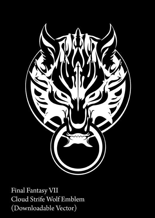 cloud strife wolffenrir logo by karloi on deviantart