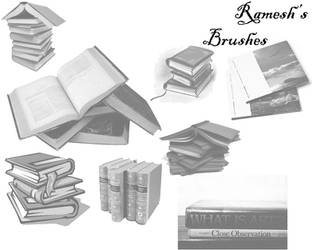 Book Brushes Set I by ramesh000