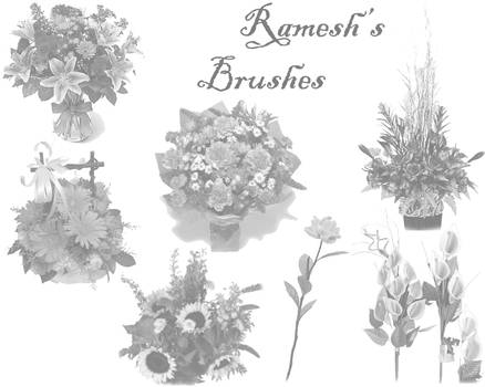 Flower Brush Set I