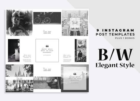 BW Instagram Post Templates by SoniaSpina