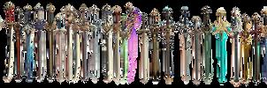 MMD Genshin Impact Sword Set DL