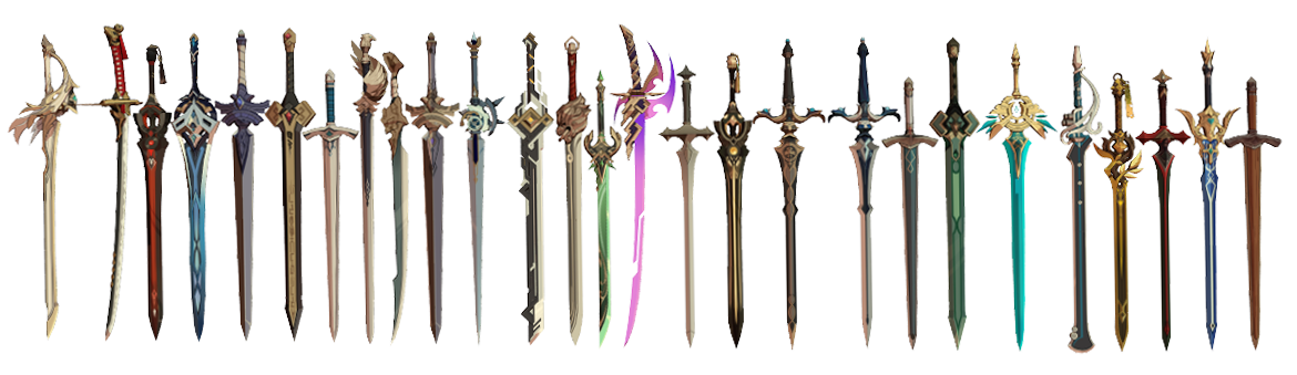 MMD Genshin Impact Sword Set DL