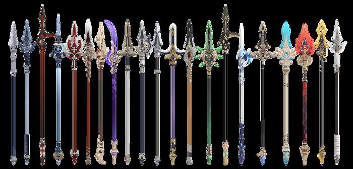 MMD Genshin Impact Polearm/Spear Set DL