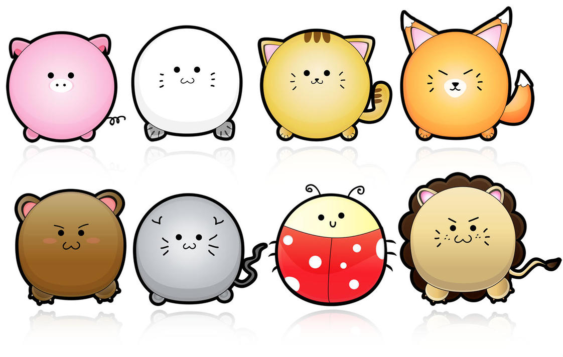 Cute Animals Vector by yurike11 on DeviantArt
