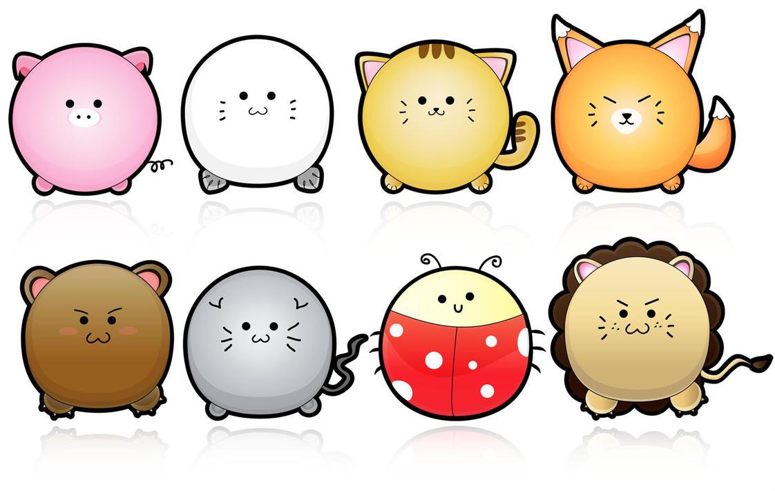 Cute Animals Vector by yurike11