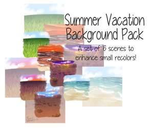 P2U: Summer Vacation Background Pack