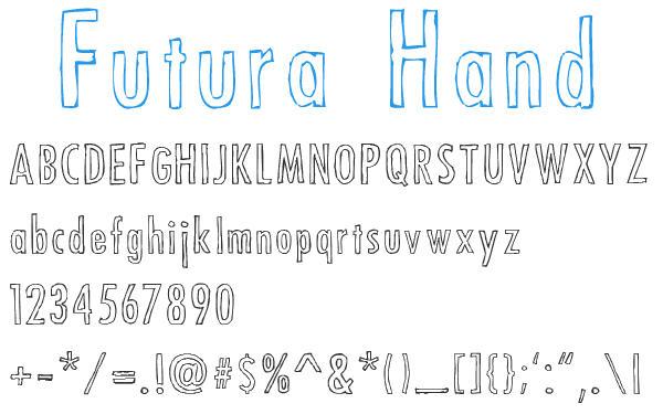 Futura Hand by blnkdsgn