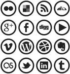 WP7 Metro Social Media Icons