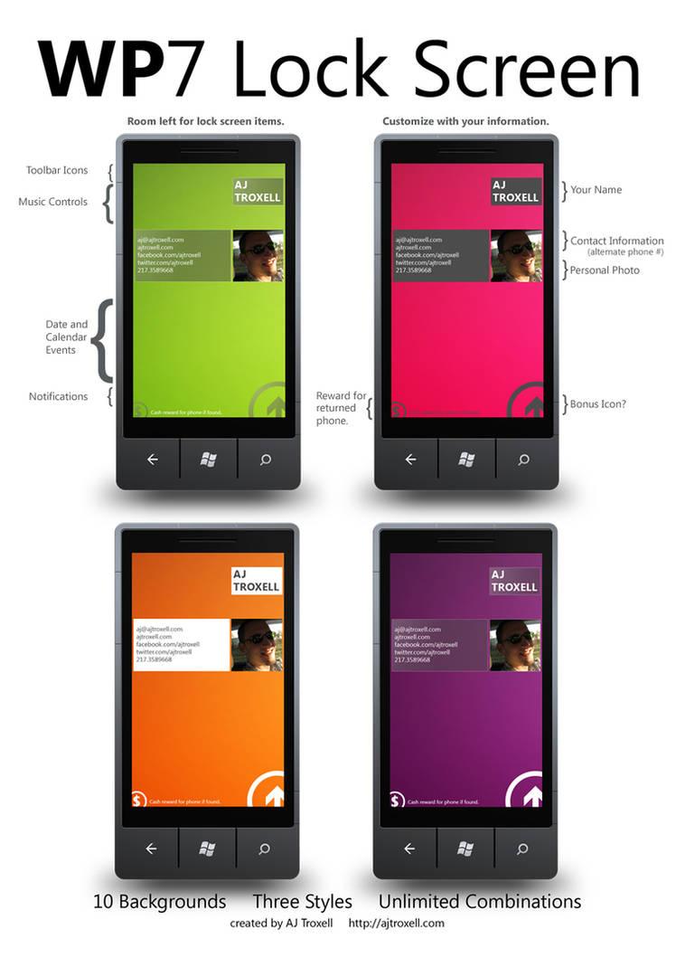 WP7 Lock Screen by blnkdsgn