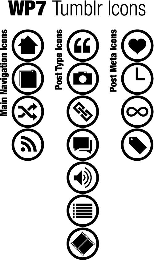 WP7 Tumblr Icons by blnkdsgn