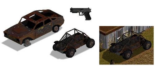 Rusty Cars Pixel Art