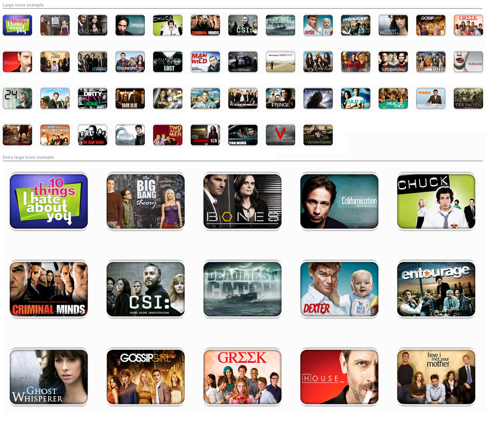 Tv shows icons v1 by dubbb on deviantart for Craft shows on tv