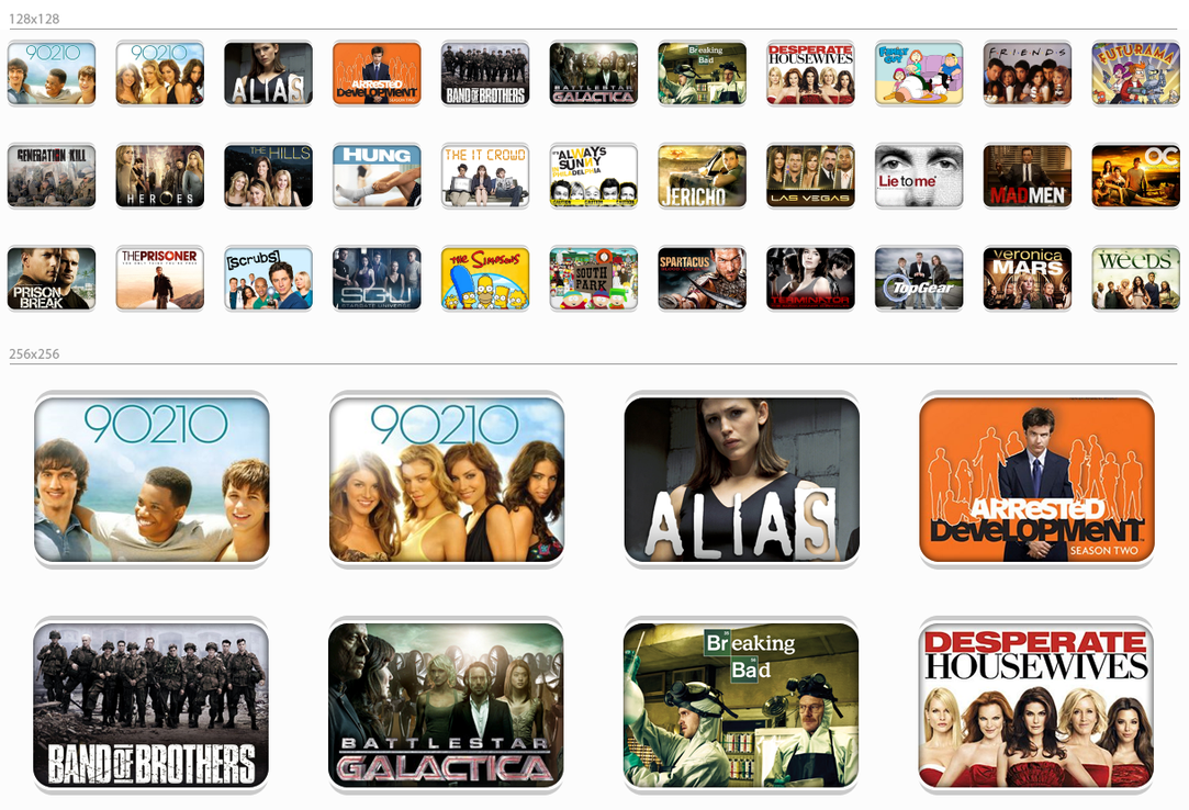 Tv shows icons v2 by dubbb on deviantart for Craft shows on tv