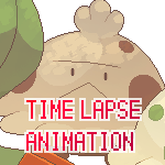 Spriting Time Lapse Animation - amanita muscaria by SirAquakip