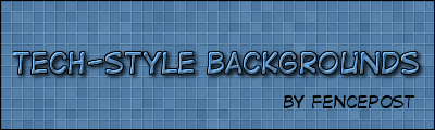 Tech-Style Background in GIMP by fence-post