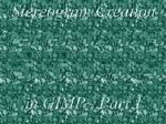 GIMP Stereogram Creation Pt 1
