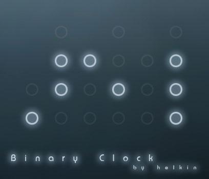 Rainmeter Binary Clock