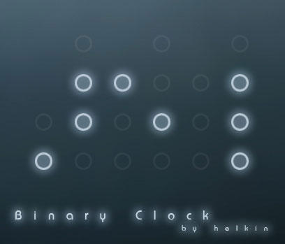 Rainmeter Binary Clock by helkin86