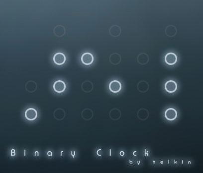 Rainmeter Binary Clock by helkin86