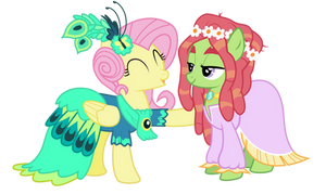 Fluttershy and treehugger