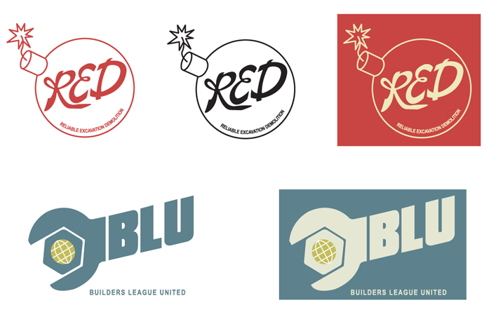 Red and BLU team logos - TF2