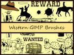 Western GIMP Brushes
