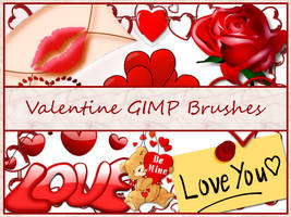 Valentine GIMP Brushes by Jedania