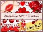 Valentine GIMP Brushes