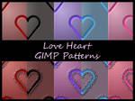 Love Heart GIMP Patterns