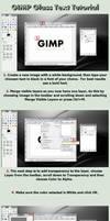 GIMP Glass Text