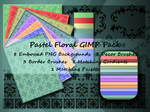 Pastel Floral GIMP Pack