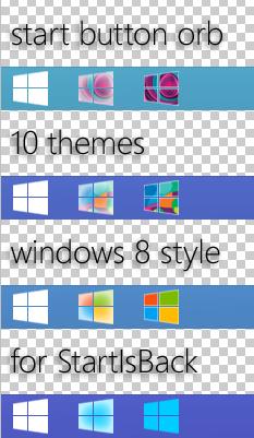 start button orb windows 8 style (1.1) by effe8