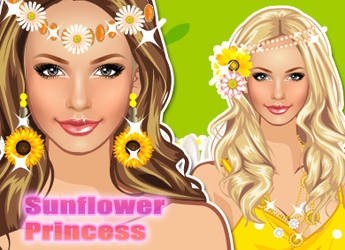 Dress Up Sunflower Princess by sweetygame