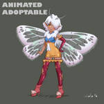 OPEN Auction Adoptable: Fairy Moth Girl by lololoxvi