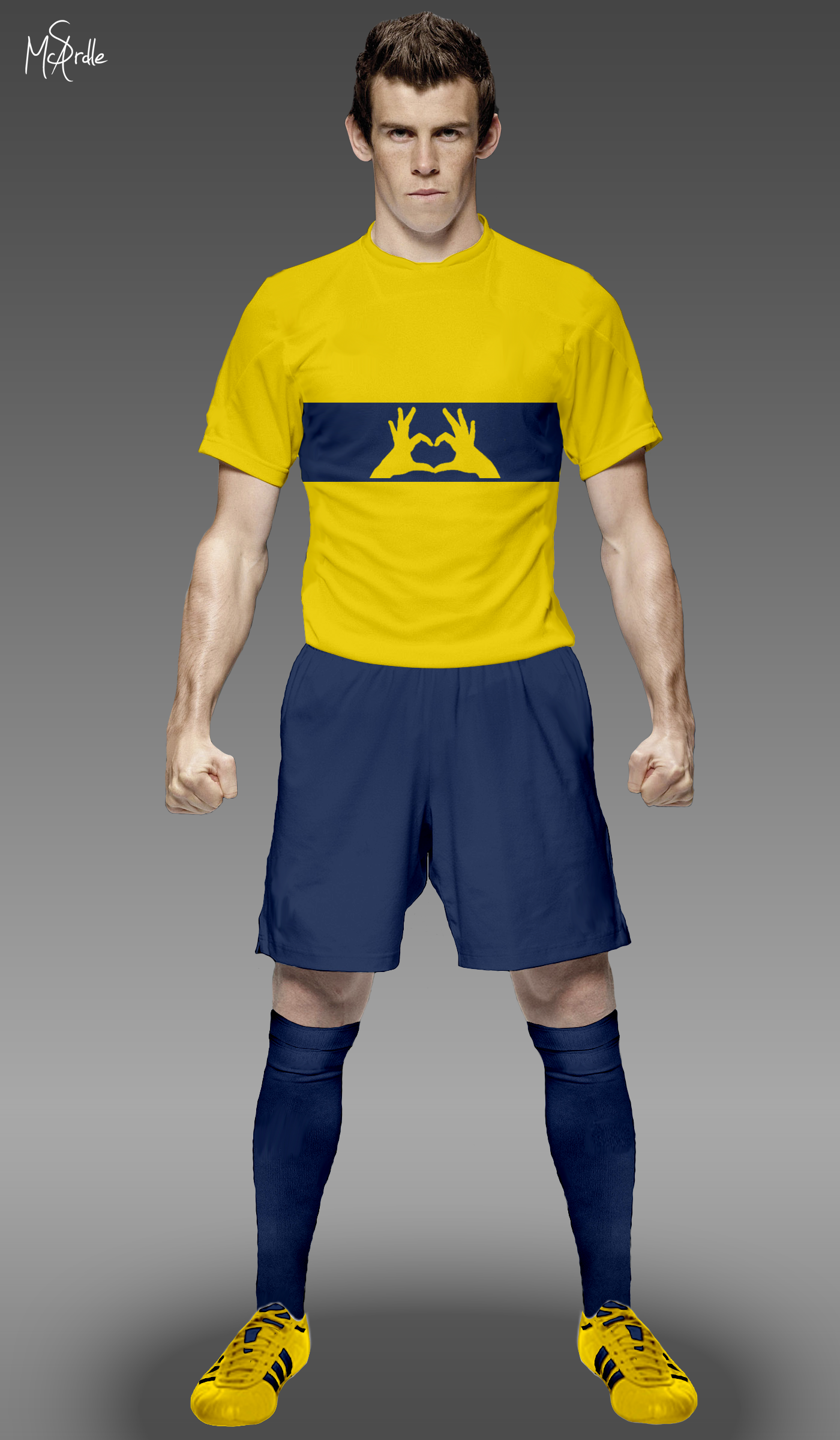 detailed look c4d1c 9e2a7 Gareth Bale Football Photoshop Template by marble21 on ...