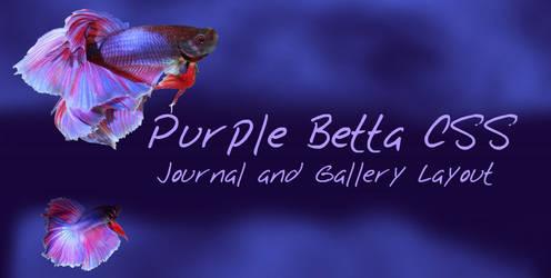 Purple Betta Journal CSS by Aryenne