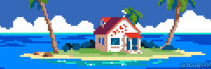 218/365 pixel art : Kame House Dragon Ball by igorsandman