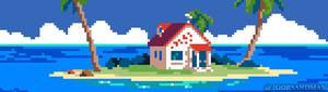 218/365 pixel art : Kame House Dragon Ball