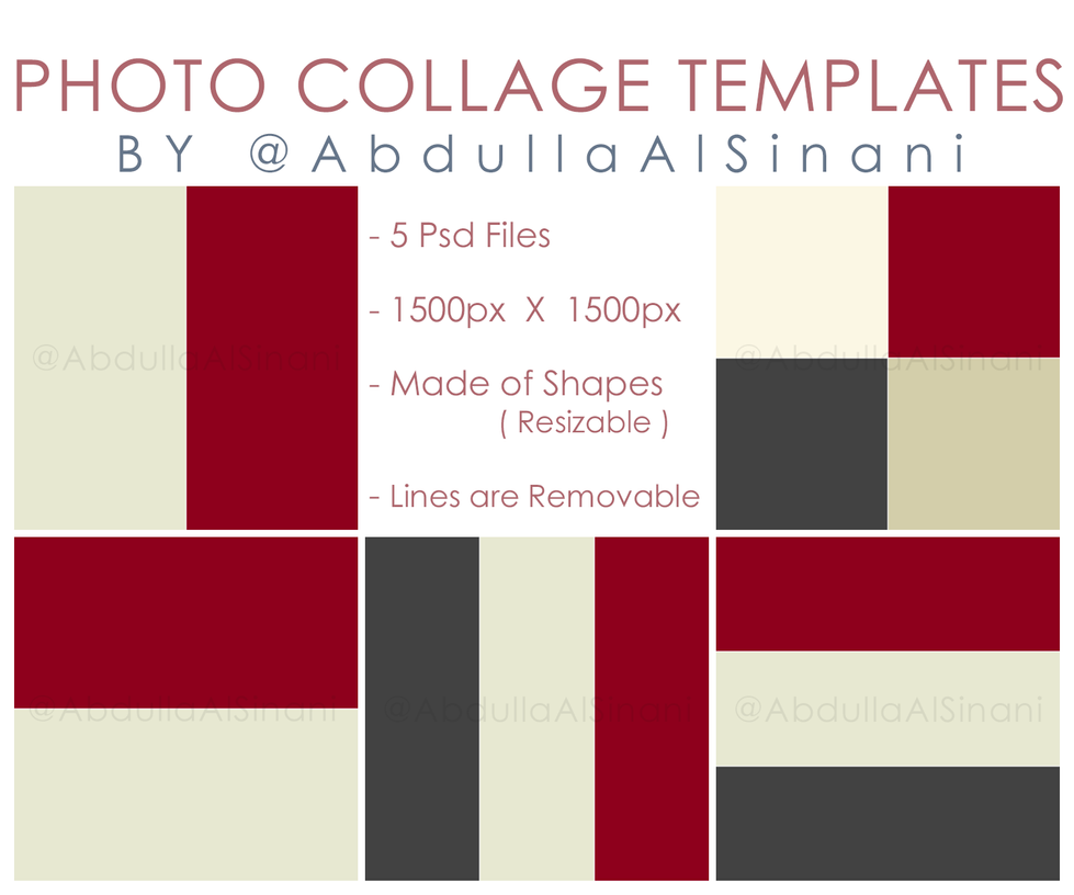 Photo collage templates for web and instagram by for Free online photo collage templates