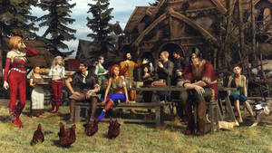 The last supper by dungeonmeister