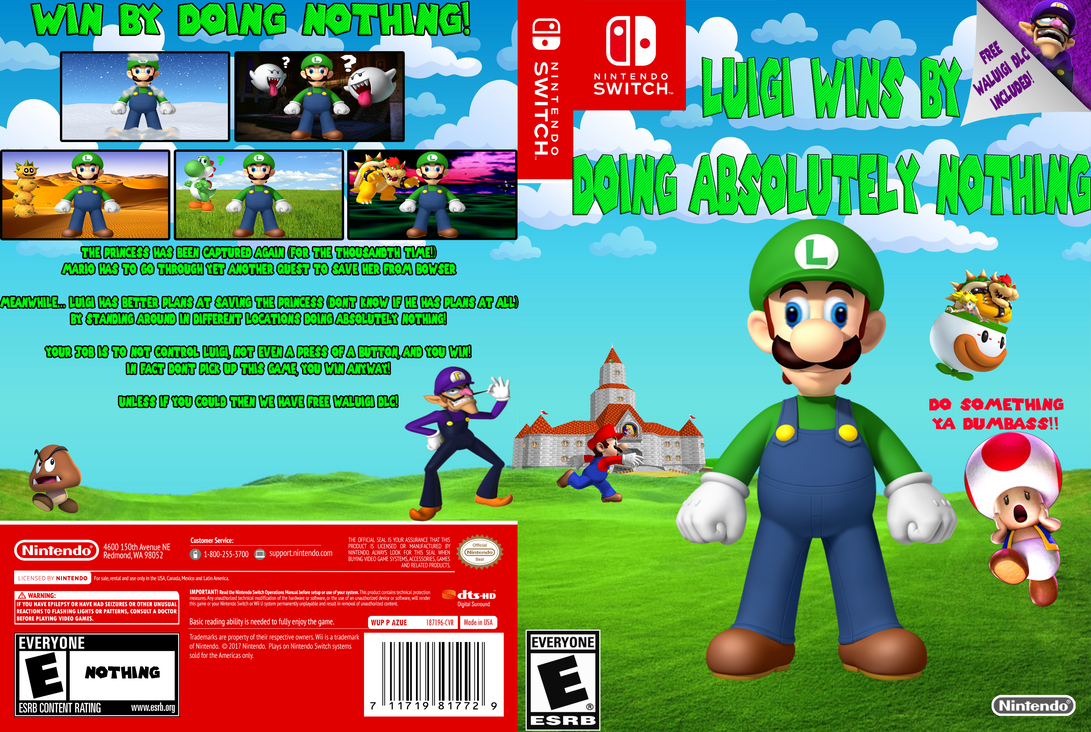 Luigi Wins By Doing Absolutely Nothing by Tomzilladoesartsorta