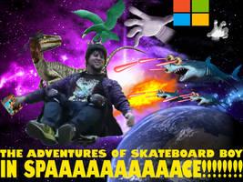 Skateboard Boy in Space by Tomzilladoesartsorta
