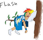 Snoring Human Rainbow Dash by kdanielss