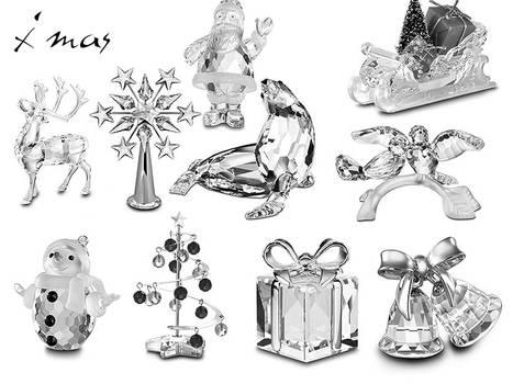 crystal xmas miniatures