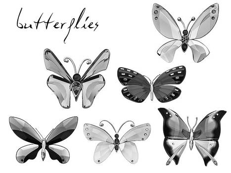 crystal butterfly miniatures