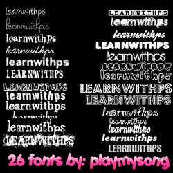 26 fonts bt playmysong